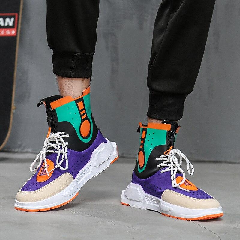 Aliexpress.com  Comprar Hip hop moda Otoño Invierno hombres botas Chelsea  Zapatos de vestir con cordones zapatos de baile zapatos de plataforma  Zapatillas ... 6541c8db62e