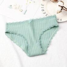 DEWVKV 2019 Hot Sale Cotton Mid-Rise Briefs for Women Color Breathable Womens Sexy Panties Crotch Lingerie Intimates LXD