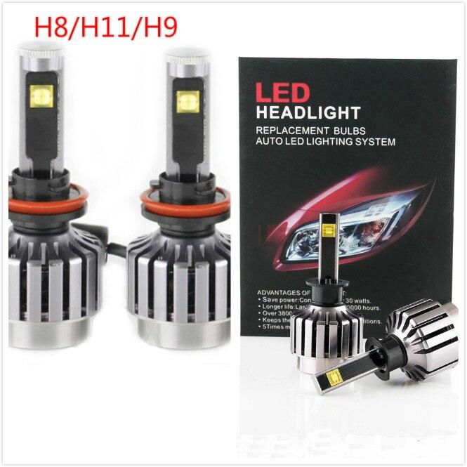 2016 nouveau H8 H9 H11 2 pièces 30 W Kit de phare LED de voiture LED ampoule de remplacement phare antibrouillard lumière 6000 K 12 V 24 V pas besoin de relais de Ballast