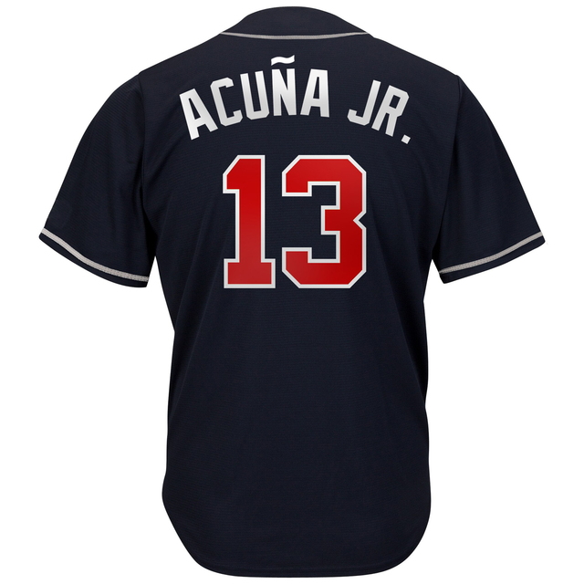 13 Acuña Jr. 5 Freeman Jersey Men's Baseball Jerseys Atlanta Navy Red White Alternate 1