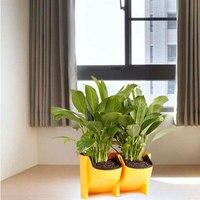 Plastic Planter Flower Pot Wall Hanging Grow Stackable Garden Supplies