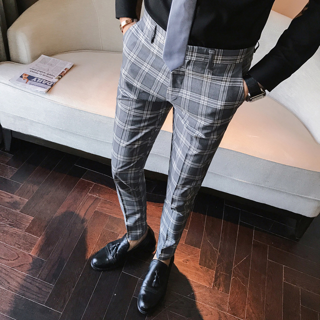 Business Casual Slim Fit Pants for Men 3