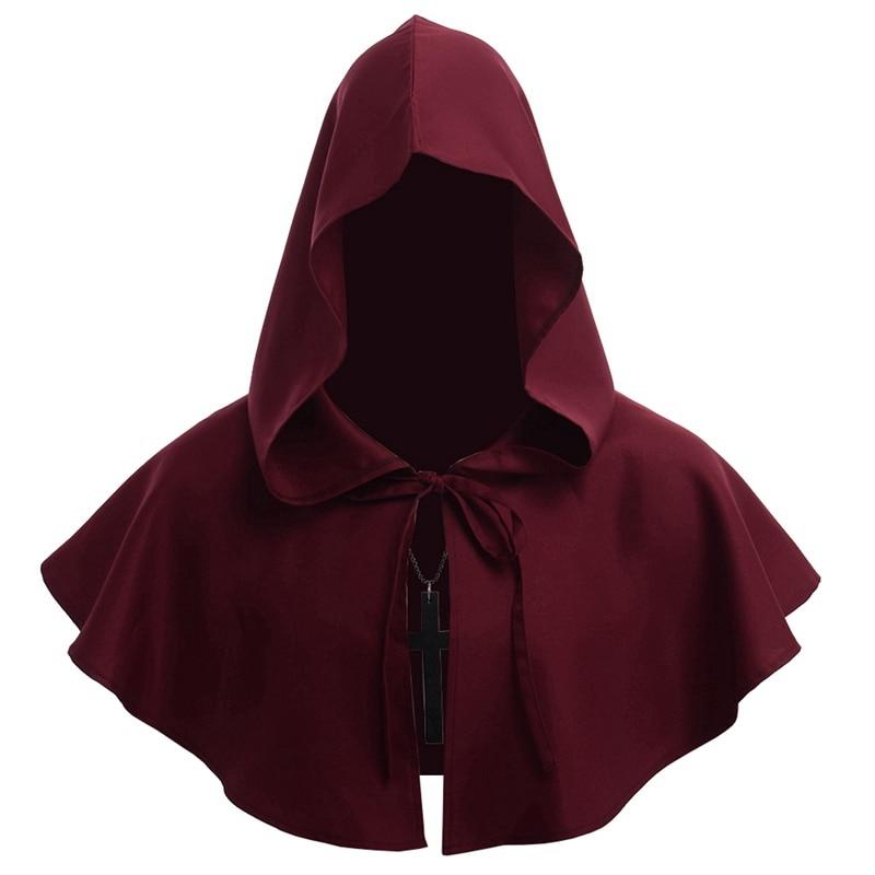 Medieval Renaissance Hood Polyester Capelet LARP Mantle Hat
