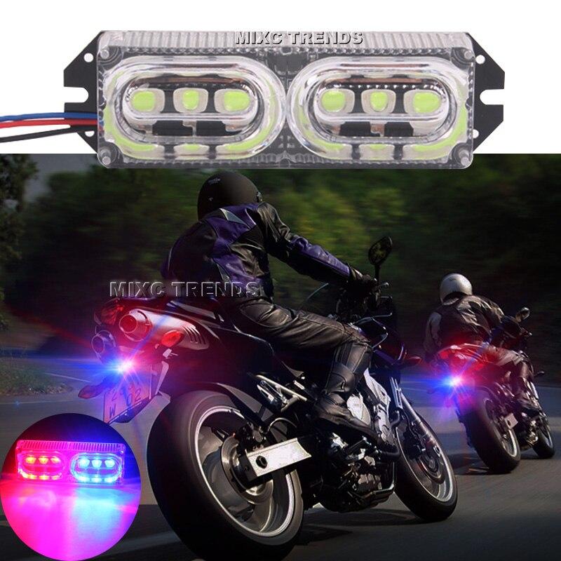 1шт 6leds вели мотоцикла тормозной сигнал поворота мотоцикла 12V красный синий свет предупреждение хвост стоп Строб аварийного проблесковый свет