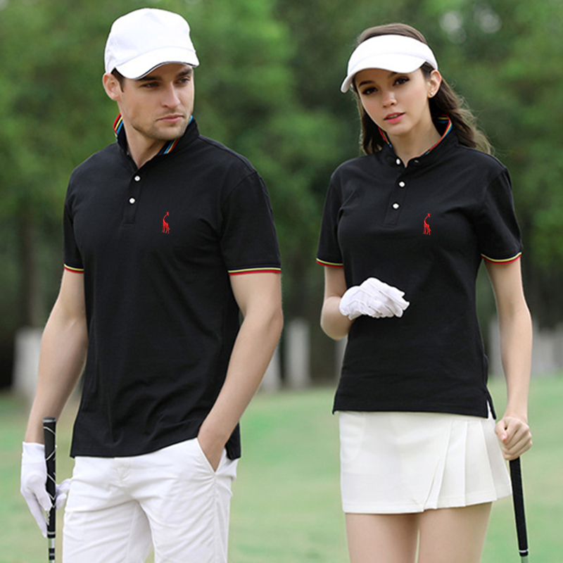 2019 Brand Quality   Polo   Giraffe Cotton Mens   Polos   Casual Short Sleeve   Polo   Shirt Men Stand Collar Classical Deer   Polos   Men