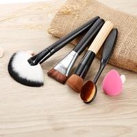 5pcs Makeup Brush Tool Kit With Powder Foundation Countour Blush Brush Sponge Women Beatuty Brushes Tool