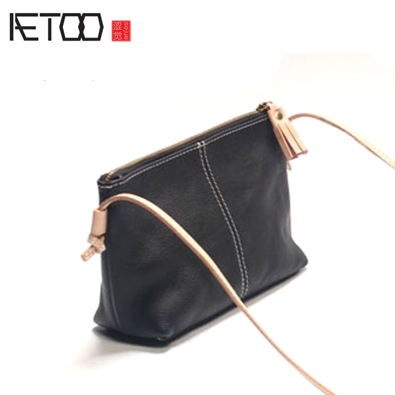 AETOO Original leather handbags 2016 new shoulder diagonal cross small bag ladies simple first layer of leather soft leather Mes qiaobao women general 100% leather handbags tide europe fashion first layer of cowhide women bag hand diagonal cross package