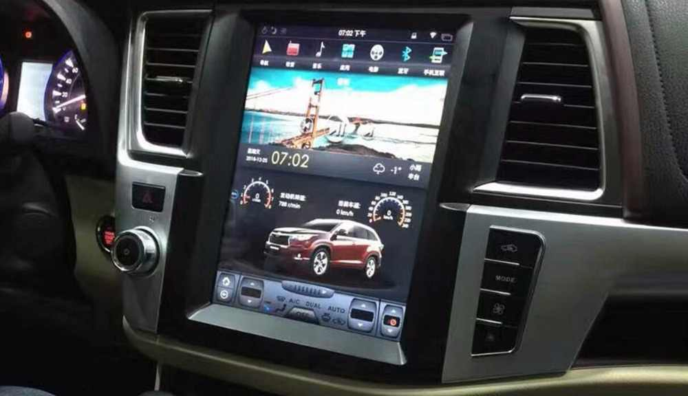 12 1 Vertical Screen Tesla Style Android Car Dvd Gps Navigation Player For Toyota Highlander