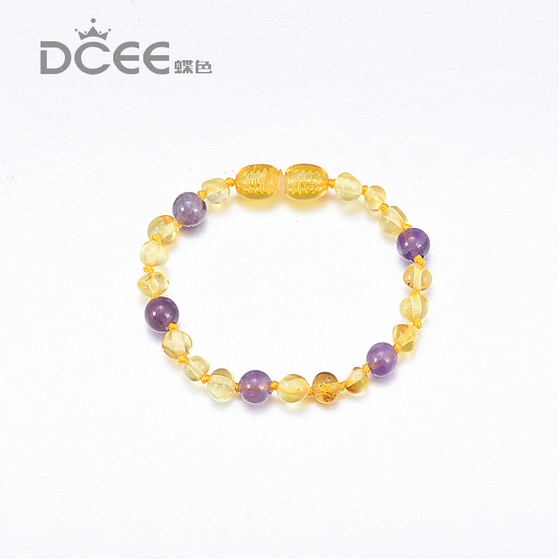 Authentic Cognac Baby Ambar Bracelet polished natural Beads infant toddler teething nursing bracelet reduce teething pain