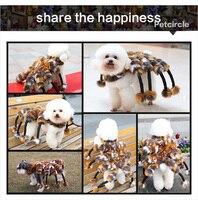 Freeshipping petcircle חם בגדי כלב לחיות מחמד כלב עכביש ענק חזותי מעילי גודל סט כלב כלב צ 'יוואווה תלבושות עבור ליל כל הקדושים SL
