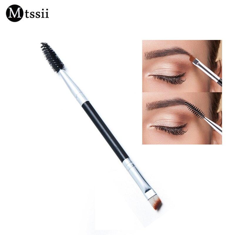 Mtssii Brand Double Eyebrow Brush+Eyebrow Comb beauty cosmetic brush eyebrow makeup brushes for eyeBrow Brush blending eye