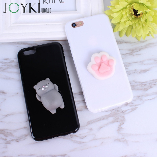 Squishy 3D Phone Case For Iphone 7 Cases Cute Soft Silicone Panda Cartoon Cover For Iphone 7 6 6S Plus 5 5S SE Case Funda Capa