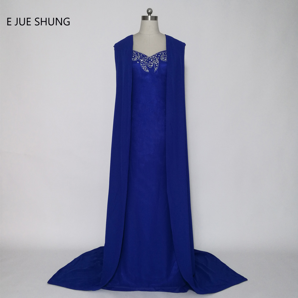 Aliexpress.com : Buy E JUE SHUNG Royal Blue Arabic Mermaid ...