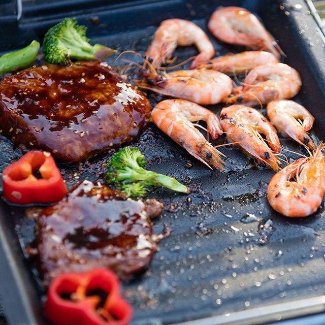 Plaque chauffante antiadhésive Barbecue   Grille de Barbecue facile à nettoyer, poêle à griller, cuisine en plein air Barbecue outils de cuisine de Camping