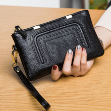 6 Colors Real Leather Women Wallet Carteira Carteras Mujer Long Wallets Female Lady Coin Card Purses billeteras para mujer недорго, оригинальная цена