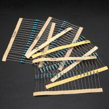 2000pcs/set 100 Values 1/4W Metal Film Resistor 1 ohm - 1M ohm Resistors Resistance Assortment Kit High Precision цены