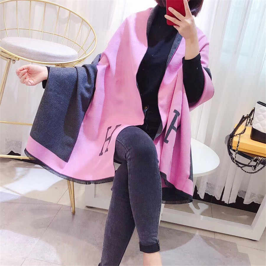 Women Scarf Winter Autumn Woman Scarves Wrap Shawl Thick Women s Scarf Warm  Cotton Cashmere Wool Blended 745978349ce
