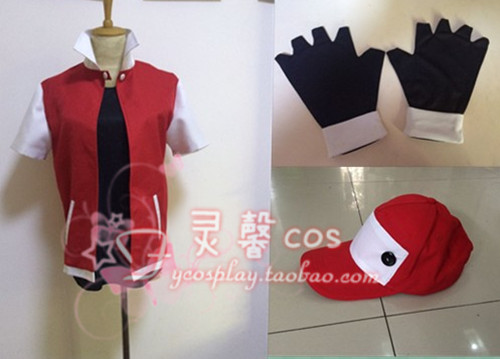 2016 Anime Pokemon Trainer Red Cosplay Costume