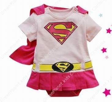 Aliexpress.com : Buy Pink baby girl superman clothes kids fashion ...
