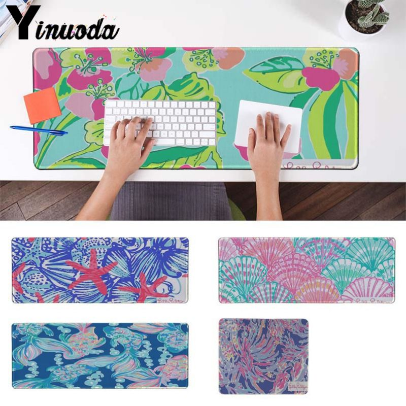 Gentil Yinuoda New Printed Lilly Pulitzer Office Mice Gamer Soft Mouse Pad Size  For 180*220
