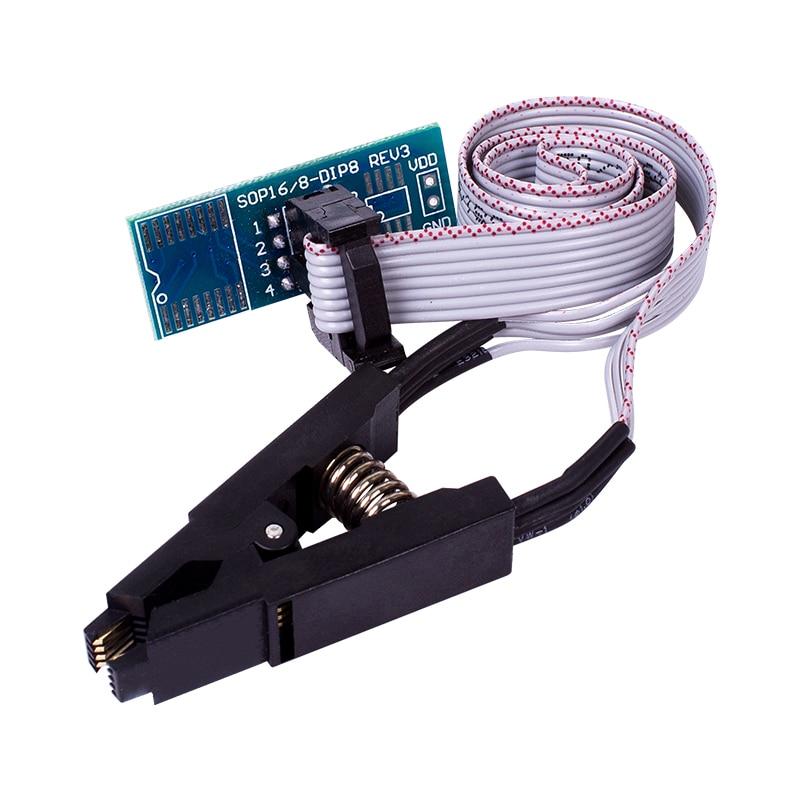 Лучшее качество 8-контактный SOIC8 SOP8 DIP8 флэш-памяти зажим для проверки ИС розетка адаптер BIOS/24/25/93 программист
