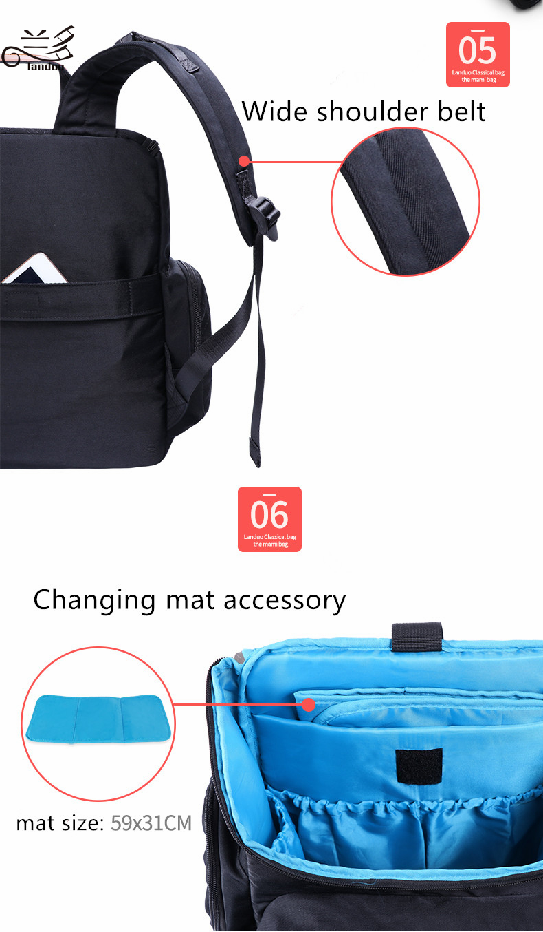 HTB1.uVqiTqWBKNjSZFAq6ynSpXaF Authentic LAND Mommy Diaper Bags Mother Large Capacity Travel Nappy Backpacks with anti-loss zipper Baby Nursing Bags dropship