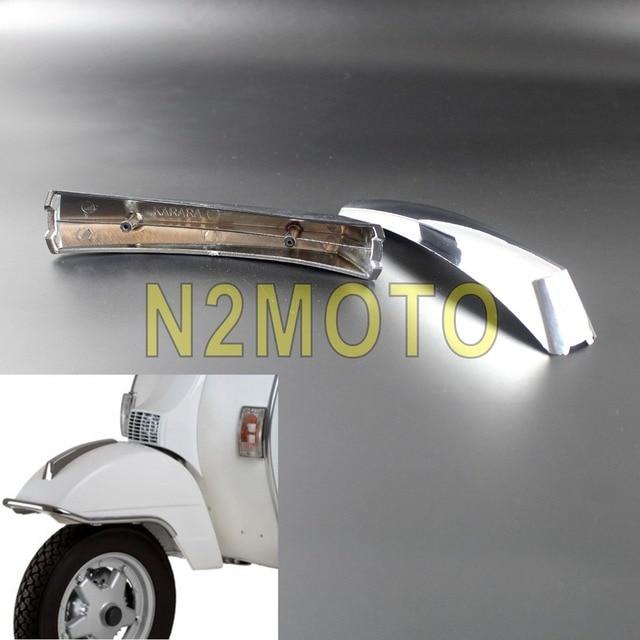 US $9 06 9% OFF|Motorcycle Chrome ABS Front Fender Mount Decoration Crest  Strip for VESPA PX 125 150 200 LML T5 EFL Disk Mudguard Crest -in Covers &