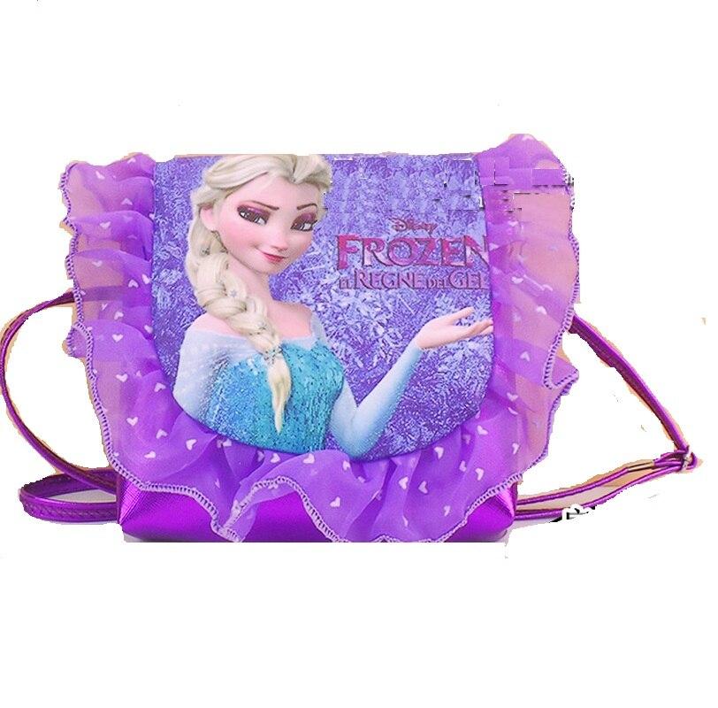 Fashion girls kids princess messenger bag baby girl coin purse lace PU bag cartoon kindergarten student bags lovely Mochila gift