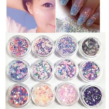 12 Colors Mixed Flake Party Face Eye Glitter Makeup Eye