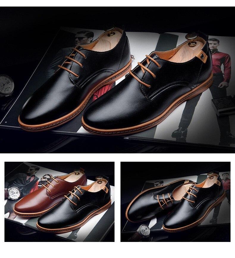 Hot Sale New oxford Casual shoes Men Fashion Men Leather Shoes Spring Autumn Men Flat Patent Leather Men Shoes WGL-K03-1 6
