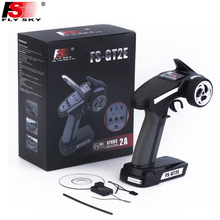 1pcs Flysky FS GT2E AFHDS Radio System Transmitter 2 Channels 2.4G Gun Control with FS A3 Receiver  for RC Car Boat  LED Display