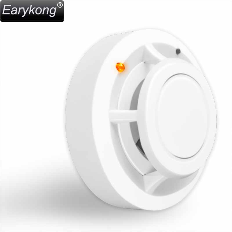 New Earykong Wireless Smoke detector 433MHz High sensitivity, For GSM alarm system, Security alarms, 1 battery work over 2 year wireless smoke fire detector smoke alarm for touch keypad panel wifi gsm home security system without battery
