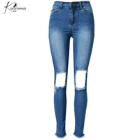New Boyfriend Hole Ripped Jeans Women Pants Cool Denim Vintage Straight Jeans For Girl High Waist Casual Pants Female Slim Jeans