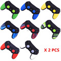 2 pcs Soft Anti-Slip Silicone Rubber Skin Case Cover For Sony PlayStation Dualshock 4 PS4 Pro Slim Controller Game Accessories
