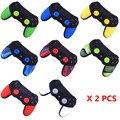 2 pcs suave anti-slip borracha de silicone pele para cobrir caso sony playstation dualshock 4 controlador ps4 pro fino jogo acessórios