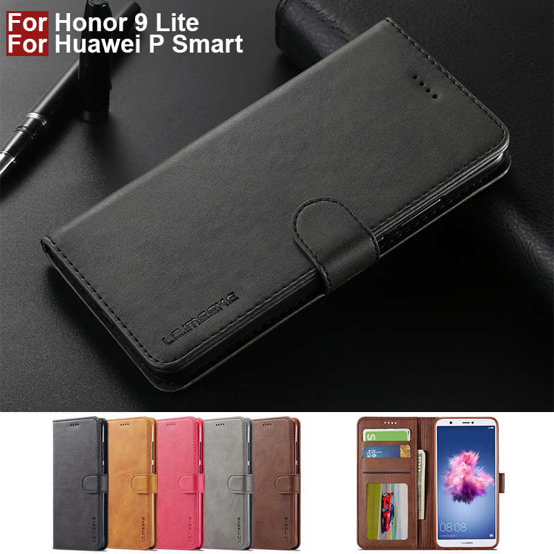 big sale 7052c 7431d US $4.49 10% OFF|Honor 9 Lite Case Leather Vintage Phone Case For Huawei  Honor 9 Lite Cases Flip Magnetic 360 Wallet Case On Huawei P Smart Cover-in  ...