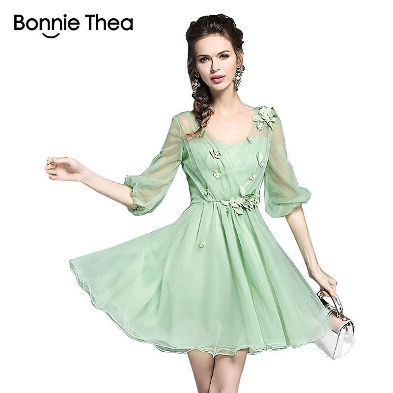 зелене сітчасте жіноче літо Плаття - Жіночий одяг