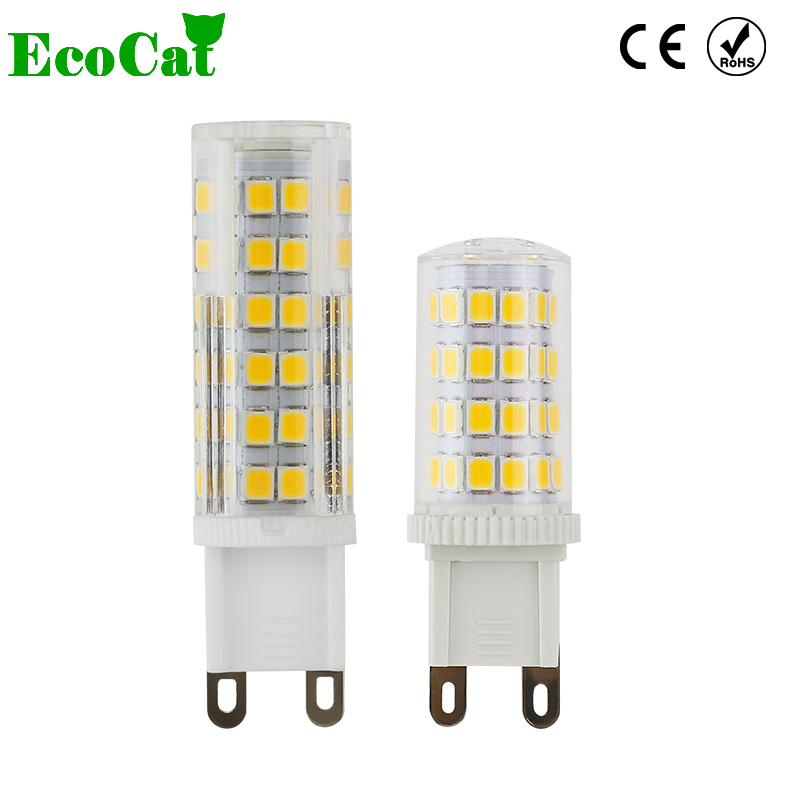 ECO CAT LED G9 lamps LED candle light AC 220v 240v 3W 5W 7W 33 LED Crystal Lighting Ceramic Crystal Spotlight for Chandelier samura eco ceramic skc 004b