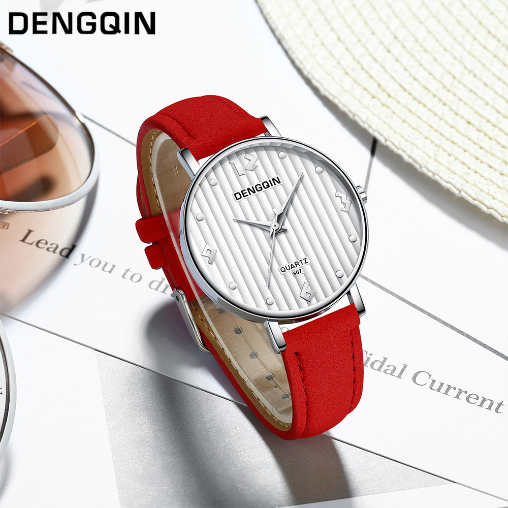 Top Brand Fashion Ladies Watches Leather Female Quartz Watch Women Thin Casual Strap Watch Reloj Mujer Marble Dial #YT224 1