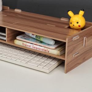 Image 5 - Wooden Monitor Laptop Stand Holder Riser Computer Desk Organizer Keyboard Mouse Storage Slots for Office Supplies School Teacher