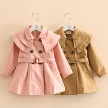 цена на Baby Girls Jackets and Coats 2018 New Spring Autumn Children Clothes Fashion Girls Windbreaker 2 3 4 5 6 7 Years Kids Outerwear