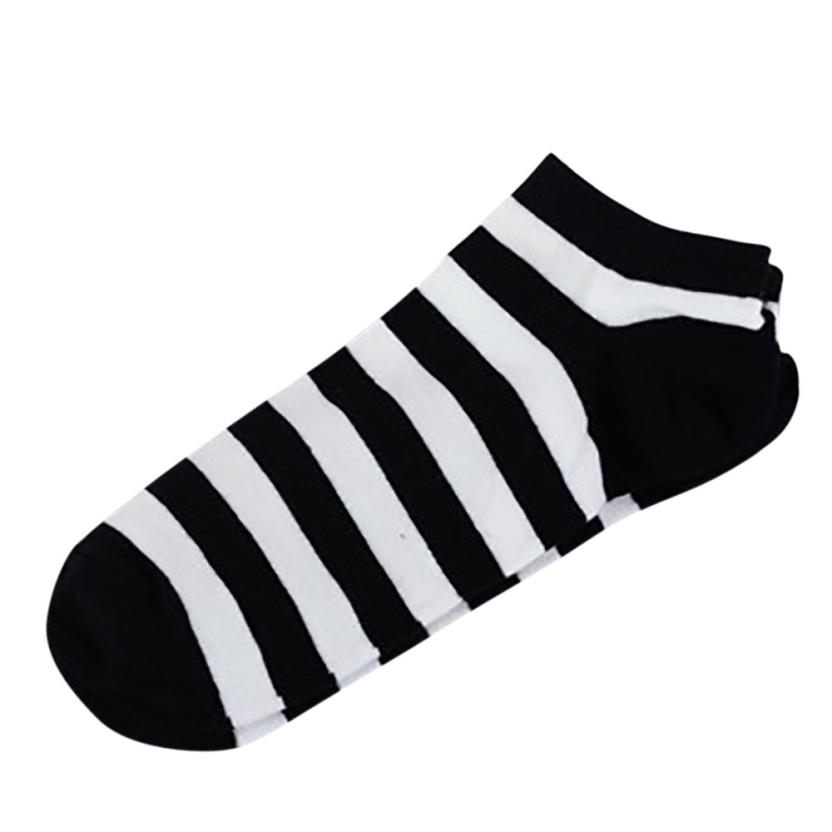 Fashion New Womens Socks And Men Comfortable Stripe font b Slippers b font Short Ankle Socks