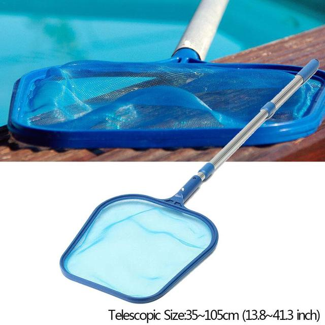 Telescopic Pole Swimming Pool Cleaner Net Mesh Skimmer Cleaning Net ...