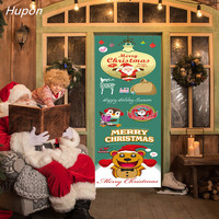 Multi function Christmas Decoration Wall Sticker Christmas Wooden Door Stickers Noel Xmas Decorations for Home Kids Room Decor
