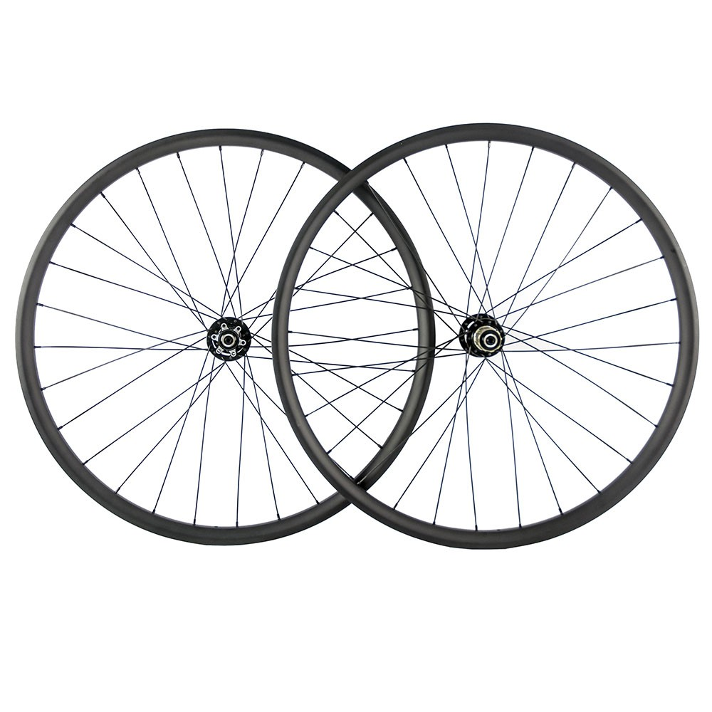 29ER MTB XC carbon wheels Tubeless ready 27mm width 25mm depth hookless mountain bike carbon wheelset with boost hub цены онлайн