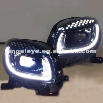 For Mersedes Smart 2015-2017 year LED Headlight black housing