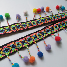 Sewing-Accessories Tassel Ribbon-Decorative Pompom-Trim Braid-Trimming Fabric Beaded