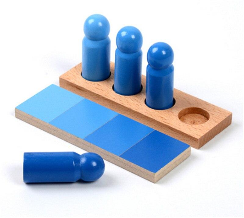 Nouveau bois bébé jouets famille Version Montessori couleur ressemblance tri tâche bois petite enfance préscolaire enfants bébé cadeaux - 6