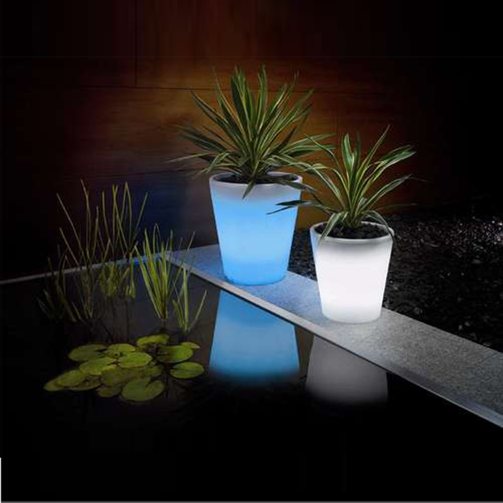2pcslot Solar Led Flower Pot Lighted Vase Lamp Landscape Lighting