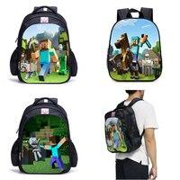 Back To Minecraft Backpack Children All for School Minecraft Lego Backpack Kids Bag High Quality Anime Backpack Bts Bookbag